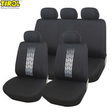 Tirol Universal 10PCS Car Seat Covers Car Interior Accessories Auto Front Car Back Seat Cover Protector Breathable Fabric(China)