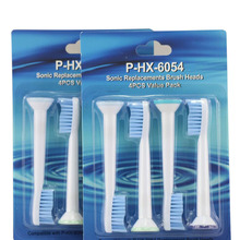 DHL Free Shipping 2000pcs HX6054 Electric Sonic Replacement Brush Heads For Philips Sonicare Toothbrush Heads Blue Soft Bristles(China)