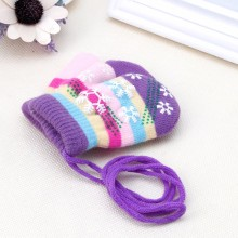 Snow Gloves Kids Mitten Children Knit Velvet Warm Kid Gloves Winter