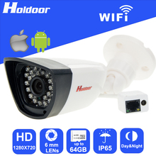 WiFi P2P IP 720P HD Video Security Surveillance Night Vision 6mm Lens Camera with micro SD card slot email alert free remote app