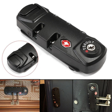 Outdoor Black Travel 3 Digit TSA Lock Tool Combination Padlock Luggage Suitcase Bag Code Lock Kit for Camping Hiking