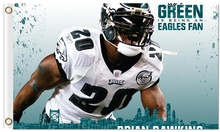 Hot sale Digital Print 3x5ft Philadelphia Eagles Player NO.25 Lesean Mccoy Flag Banners with 2 Metal Rings(China)