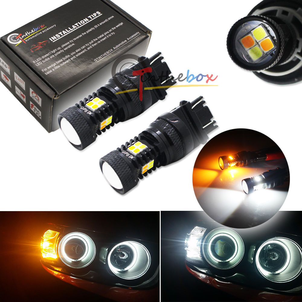 2 HIgh Power 3157 T25 LED Switchback 3030 SMD Car White Yellow Turn Signal Light<br><br>Aliexpress