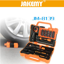 JAKEMY Precision 45 in 1  Disassembling Repair Tool Set Multi Bits Screwdriver with Tweezers Suitable for PC / Phone / Laptop