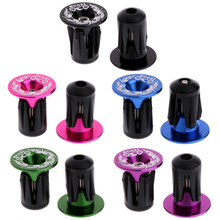 1Pair Aluminum Alloy Cycling Durable alloy handlebar For MTB Road Bike Bicycle Aluminum Handlebar Grips Handle Bar Cap End Plugs(China)