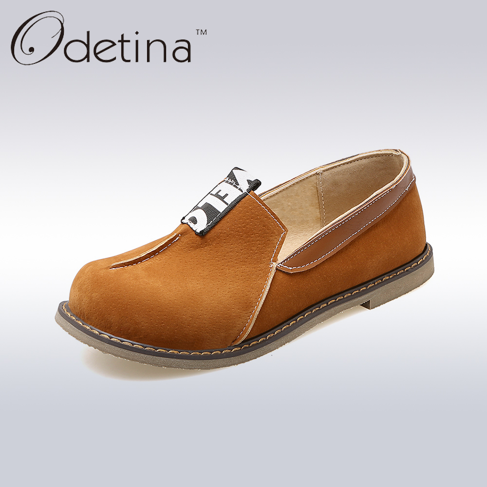 Odetina 2017 New Spring Womens Boat Shoes Pleated Flats Slip On Comfortable Loafers For Driving Ladies Plus Size Shoes Casual<br><br>Aliexpress