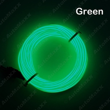 Green 5m/10ft Flexible EL Neon Glow Lighting Rope Strip+Charger for Car Decoration #J-3097(China)