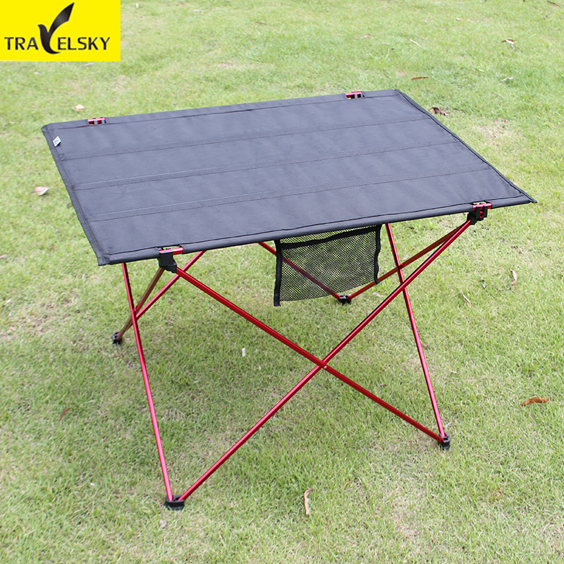 Travelsky Outdoor Folding Table Ultra-light Aluminum Alloy Structure Portable Camping Table Furniture Foldable Picnic Table<br>