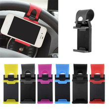 Colorful Steering-Wheel Phone Holder For Cars Quality Plastic Stand For Cell Phone GPS Mount Retractable Cradle Bracket