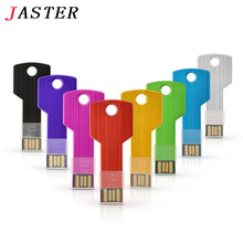 JASTER Colorful Metal Key shape usb flash drive 4GB 8GB 16GB  pen drive pendrive U disk Thumb memory stick