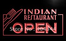 LB643- Indian Restaurant OPEN Food Cafe LED Neon Light Sign