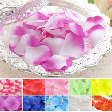 21 Colors Top quality 1000pcs Silk Rose Flower Petals Leaves Wedding Decorations Party Festival Table Artificial Flowers Decor