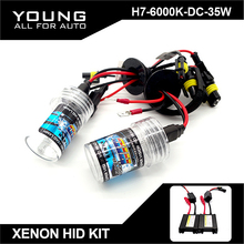 Buy YUMSEEN H7 Xenon HID Kit 35W 6000K DC12V Slim Ballast Waterproof HID Xenon Replacement Lights Bulbs Car Headlight for $25.46 in AliExpress store