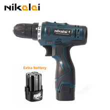 16.8V lithium ion battery*2 hand Torque drill electric drill wood multifunctional cordless screw gun electric screwdriver tools