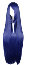 Fei-Show Dark Blue Straight Wig Brown Hair Long Cos-play Wig Heat Resistant Synthetic Cartoon Roles Costume Party Erect Hair