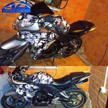 Grey White Black Graphic Camouflage Vinyl Snow Camo Film Car Wrap Motocycle Scooter Outboard Diy Styling Stickers