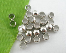 LASPERAL 400PCs Silver Color Crimp Beads 4mm DIY Jewelry Findings Supplies For Necklace Bracelet Making Handmade Craft(China)