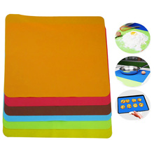 1 pc Silicone Mats  40x30cm Baking Liner Best Silicone Oven Mat Heat Insulation Pad Bakeware Table Mat (Random Color)