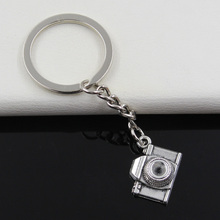 99Cents Keychain 16*21*6mm retro camera Pendants DIY Men Jewelry Car Key Chain Ring Holder Souvenir For Gift