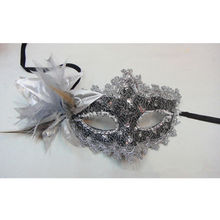 NEW arrival Wholesale Lace Venetian Mask Masquerade Carnival Masked Ball Fancy Dress Costume Silver