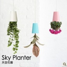 Sky Planter Upside-Down Plant Pot Novelty Gift(China)