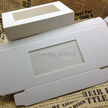 20Pcs Size 12.5x7.5x2.4cm White Paper Gift Box with PVC window For packing/protecting Glass Crystal Fancy Stones