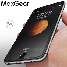 MaxGear No Fingerprint Matte Tempered Glass Screen Protector For iphone 4 5 5C 5S SE 6 6S 7 8 Plus Frosted Glass Protective Film(China)