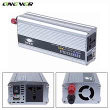 Onever 1500w Car Converter Modified Sine Wave Power Car Inverter DC 12v to AC 220v USB 5V Invertor USB Car Charger(China)