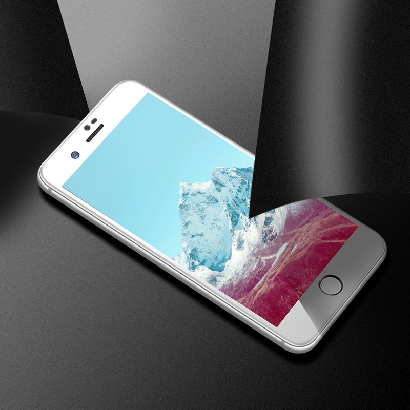 TOMKAS 6D Glass on For iPhone 7 6 X Xs Max Xr Screen Protector Tempered Protective Glass For iPhone 6s 8 Plus Screen Protection