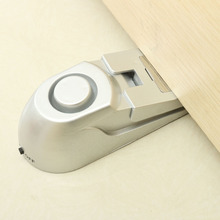 100dB Door Stopper Alarm Home Security Door Stop Stopper Floor Rubber Warning Alarm System Wedge Wedge Shape Hinged Door