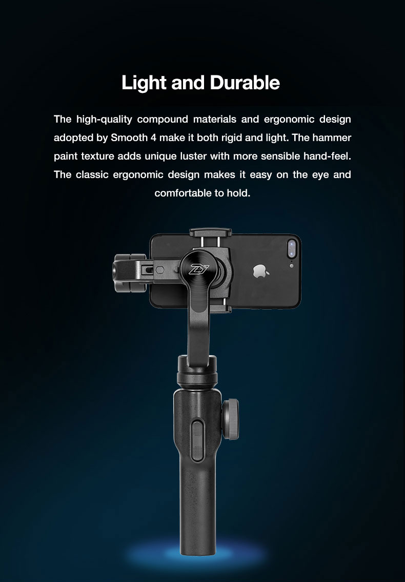 Presell ZHI YUN smooth 4 smartphone Handheld 3 Axis Gimbal Portable Stabilizer for iPhone x Camera Gimbal VS zhi yun Smooth Q