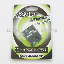 10pc/lot White 128MB 128 MB 128M Memory Storage Card Saver For Nintendo for WII GameCube Game Cube GC 2043 Blocks Free Shipping