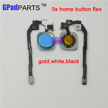 100% Guarantee Home Button Sensor Ribbon Flex Cable Complete Assembly Spare Part Replacement for iPhone 5S