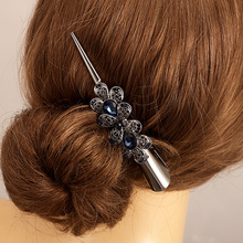 Retro Hair Jewelry High Quality Rhinestone Crystal Flower Hairgrips Hair Clips Women Hair Accessories(China)