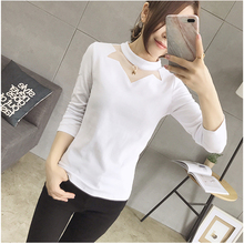 Buy Mujer Large Size T Shirt Women 2018 Autumn Womens T-Shirt O-Neck Long Sleeves Woman Clothing Basic Tops White Gray Femme Tees for $14.95 in AliExpress store