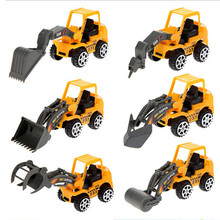 6pcs/Set Truck Mini Engineering Vehicles Construction Trucks Diecasts Car Artificial Model Kids Boys Classic Toys Gift