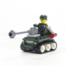 WW2 Military weapon soldiers Arms Mini Figures Tank Jeep Model Building Blocks Brick Compatible lepines toys for children