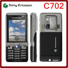 C702 Original Sony Ericsson C702 Unlocked Cell Phone GPS 3G 3.15MP support Russian & Arabic keyboard Free Shipping