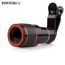 POWSTRO K 12X Optical Zoom Telescope Camera Lens High Clear No Dark Corners Mobile Phone Telescope for iPhone 6 7 Samsung Sony