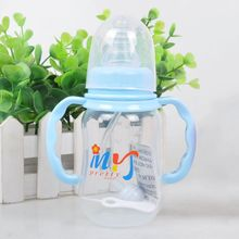 150 ML Baby Bottle Diaper Kids Straw Cup Drinking Bottle Sippy Cups With Handles Cute Design PP Plastic Feeding Bottles(China)