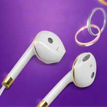 In-Ear Earphone For iPhone 6s 6 5 Xiaomi Hands free Headset Bass Earbuds Stereo Earphones For Apple Earpod Samsung earpiece(China)