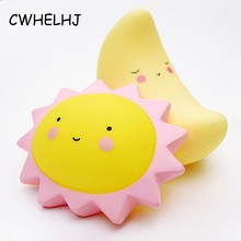 Creative Kid's Room Decoration Photography Props Decoration Crafts Sun/Moon/Star 3D Nightlight Figurines & Miniature Baby Gift