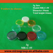 Free Shipping 200pcs/lot 3g mini nail polish oil cosmetic container jar with 9 color lids, for uv gel gelee(China)