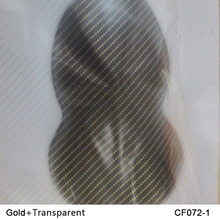 CF072-1  10Square 1m width Gold carbon fiber hydrographic films