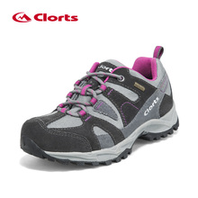 Clorts Trekking Shoes Women Outdoor Hiking Shoes Waterproof Suede Hiking Shoes Breathable Climbing Shoes HKL-828C/D(China)