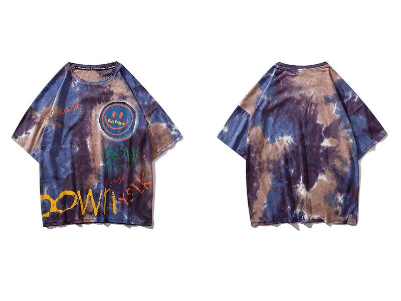 Graffiti Smile Print Tie Dye Tshirts 2