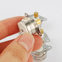 4pcs 4 wire 2 phase DC Micro stepper motor step angle 18 Degree with output gear