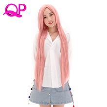 Qp Hair Women's Long Silky Straight Synthetic Hair Wig Cosplay kanekalon wigs(China)