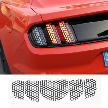 Car Styling Tail Lights Film Black Trims Cover Paste Honeycomb Beehive Style Protector For Ford Mustang 15 Up Free Shipping