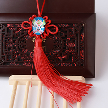 Handcraft Chinese Knotting Tassel Hanging Car Ornaments Chinese Style Beijing Opera Face Masks Auto Car Decoration Ornamental(China)